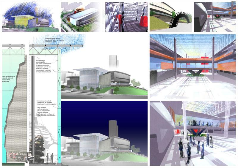 Concorso di progettazione del museo dell 39 automobile for Progettazione del layout del garage